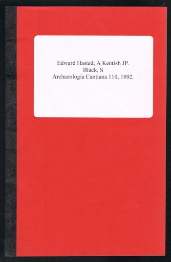 Image for Edward Hasted, A Kentish JP