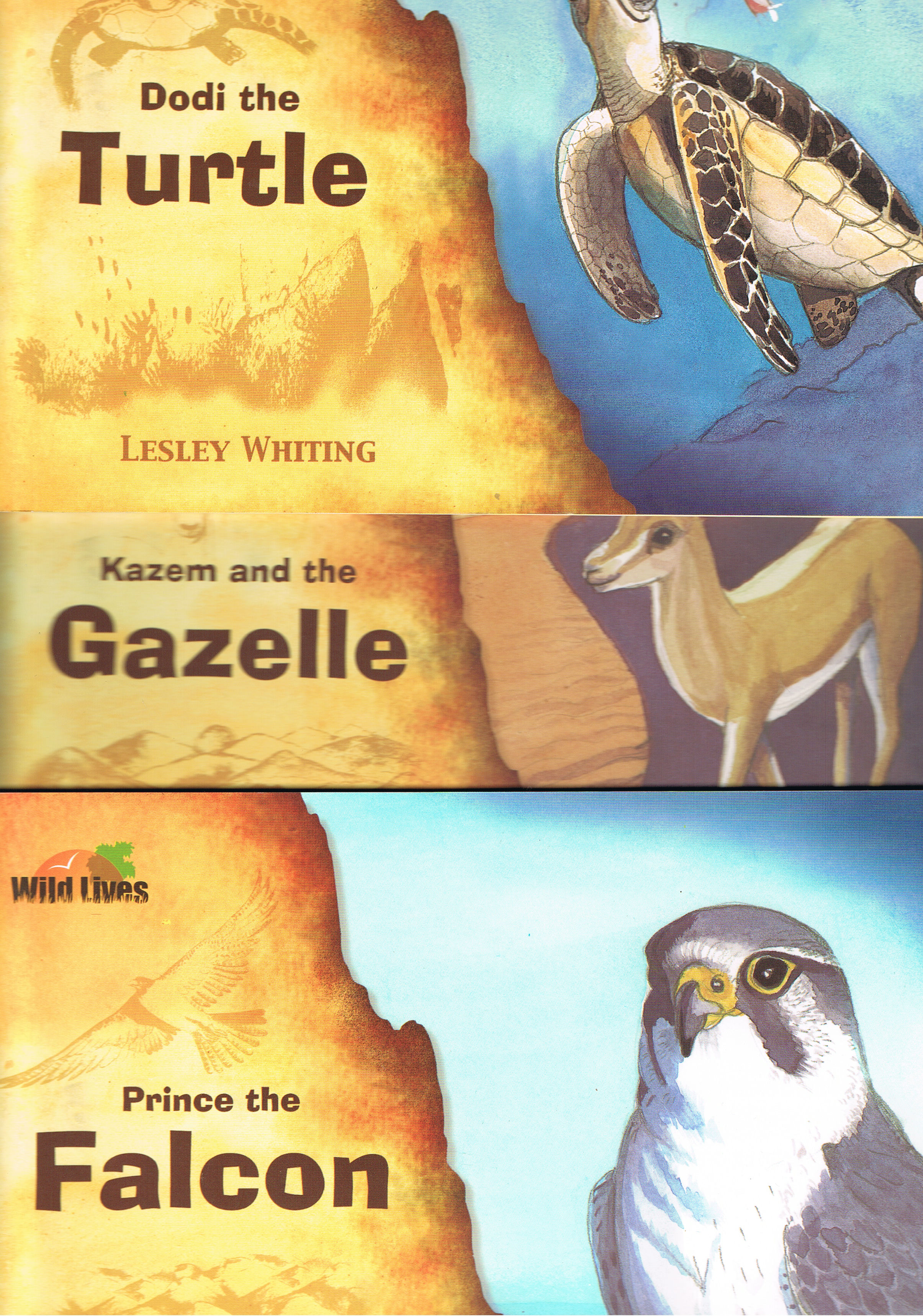 Image for Wild Lives: Kazem and the Gazelle; Prince the Falcon; Dodi the Turtle