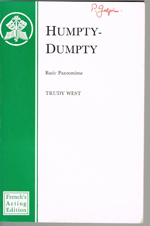 Image for Humpty-Dumpty: A Basic Pantomime in Three Acts