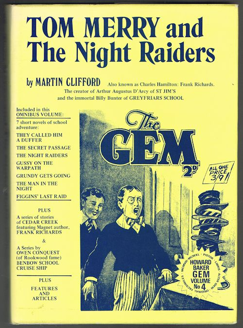 Image for Tom Merry and the Night Raiders [The Gem Library]