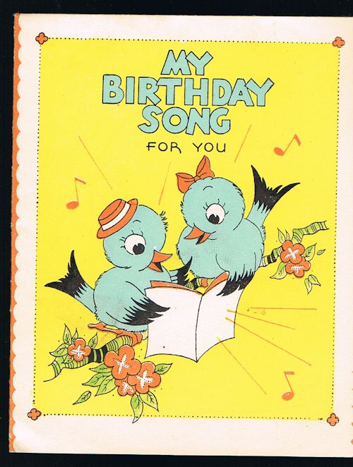 Image for Birthday Song Greetings Card