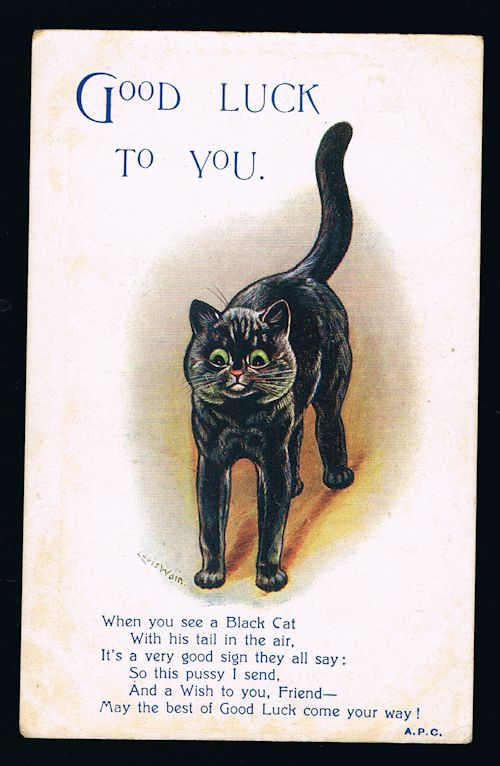 Image for Good Luck to You Cat Postcard