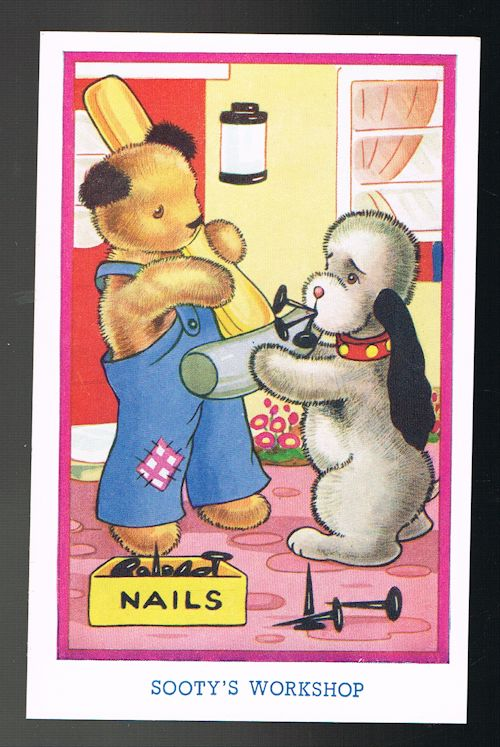 Image for Sooty's Workshop - Sooty & Sweep Postcard