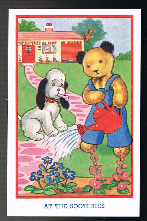 Image for At the Sooteries Sooty & Sweep Postcard