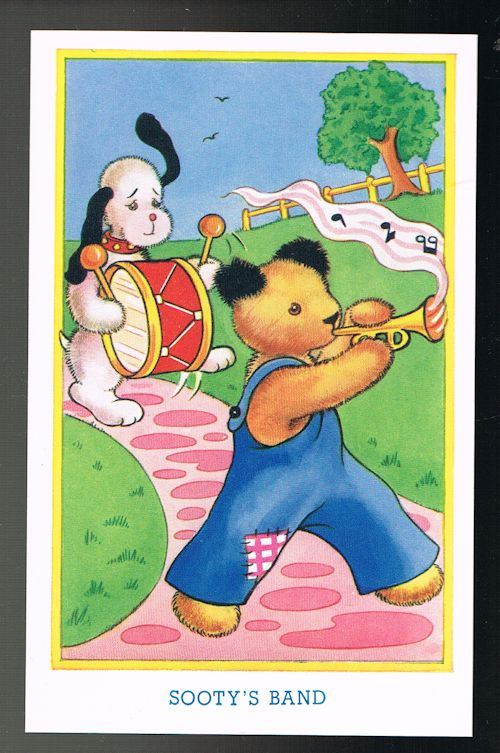 Image for Sooty's Band - Sooty & Sweep Postcard