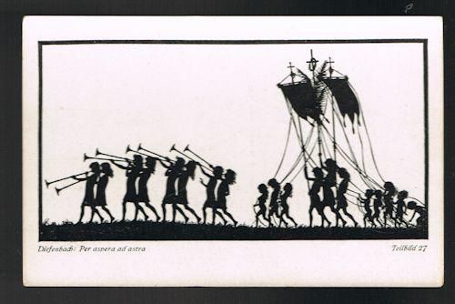Per Aspera Ad Astra Teilbild 27 Silhouette Postcard