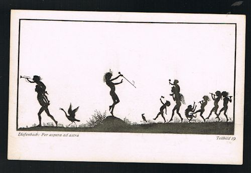 Per Aspera Ad Astra Teilbild 19 Silhouette Postcard