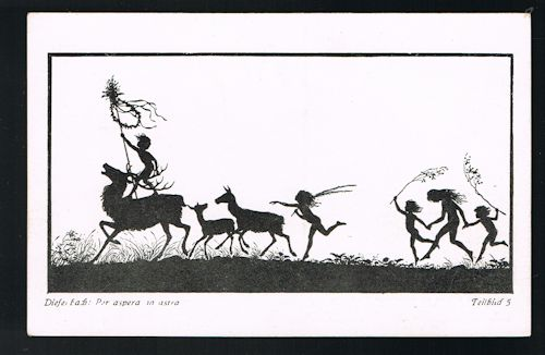 Per Aspera Ad Astra Teilbild 5 Silhouette Postcard