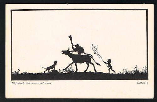 Per Aspera Ad Astra Teilbild 6 Silhouette Postcard