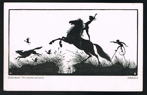 Per Aspera Ad Astra Teilbild 4 Silhouette Postcard