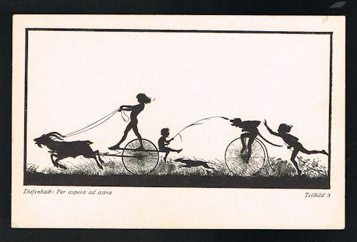 Per Aspera Ad Astra Teilbild 3 Silhouette Postcard