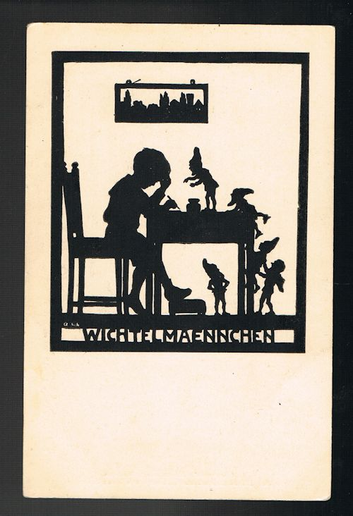 Wichtelmaennchen - The Little People Silhouette Postcard