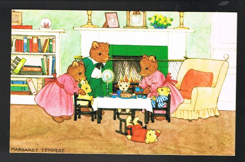 Image for The Teddy Bears' Tea-Party Postcard