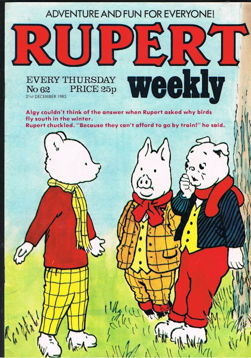 Image for Rupert Weekly No.62 (21st Dec 1983)