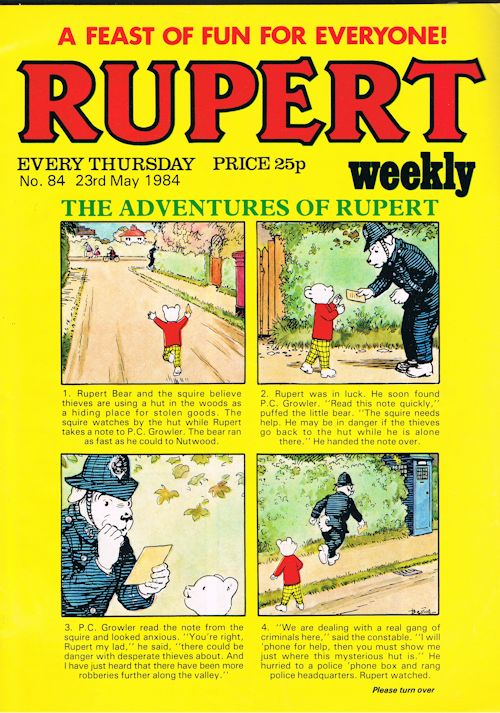 Image for Rupert Weekly No.84 (23rd May 1984)