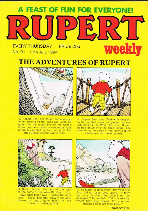 Image for Rupert Weekly No.91 (11th July 1984)