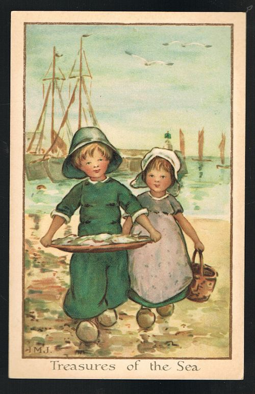 Image for Treasures of the Sea Dutch Children Postcard