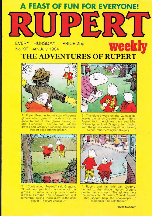 Image for Rupert Weekly No.90 (4th July 1984)