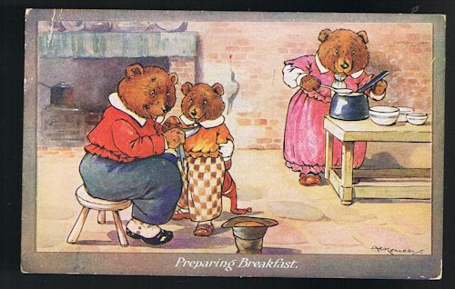 Image for Preparing Breakfast Three Bears Postcard