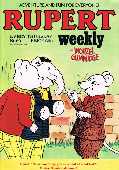 Image for Rupert Weekly No.60 (7th December 1983)