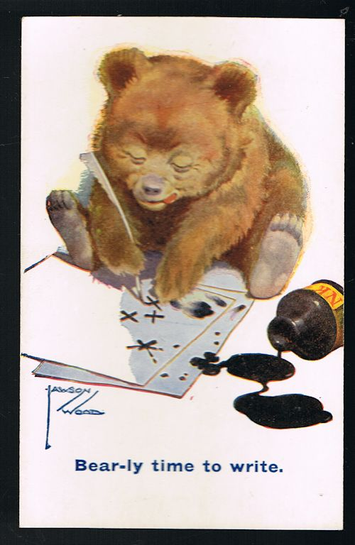 Image for Bear-ly Time to Write - Teddy Bear Postcard