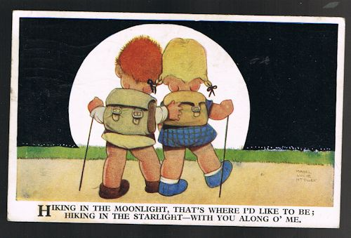 Image for Hiking in the Moonlight Postcard