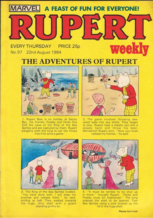 Image for Rupert Weekly No.97 (22nd August 1984)