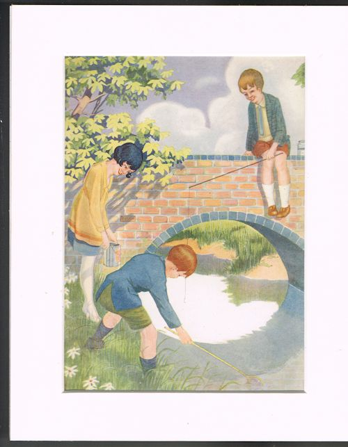 Image for Fishing (Mounted Illustration from 'Our Darlings')