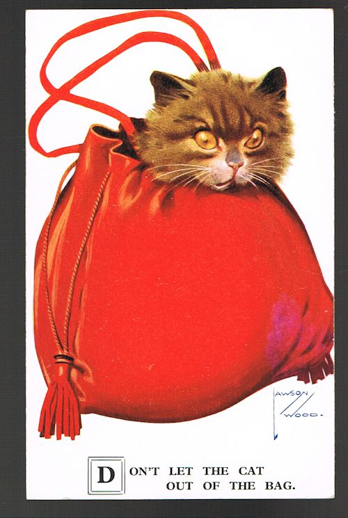 Image for Don't Let the Cat Out the Bag Postcard