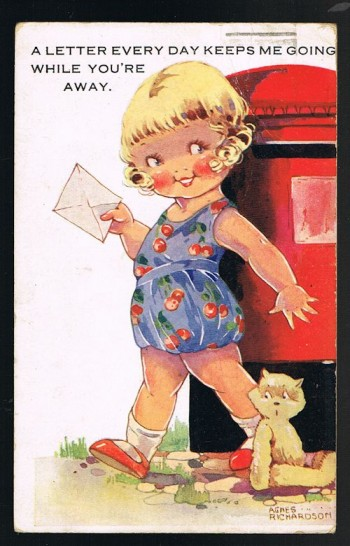 Image for A Letter Every Day Teddy Postcard