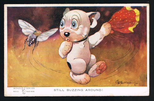 Image for Still Buzzing Around Bonzo Dog Wasp Fly Postcard