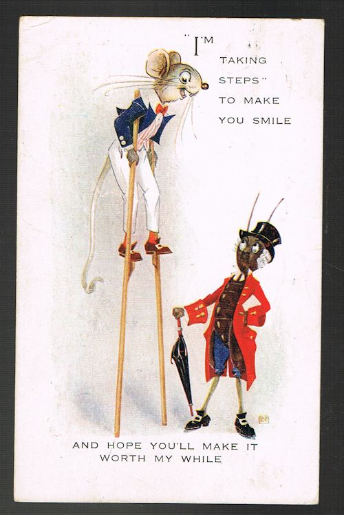 Image for I'm Taking Steps to Make You Smile Stilts Postcard