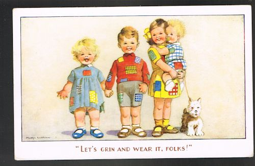 Let's Grin and Wear It Patches Postcard