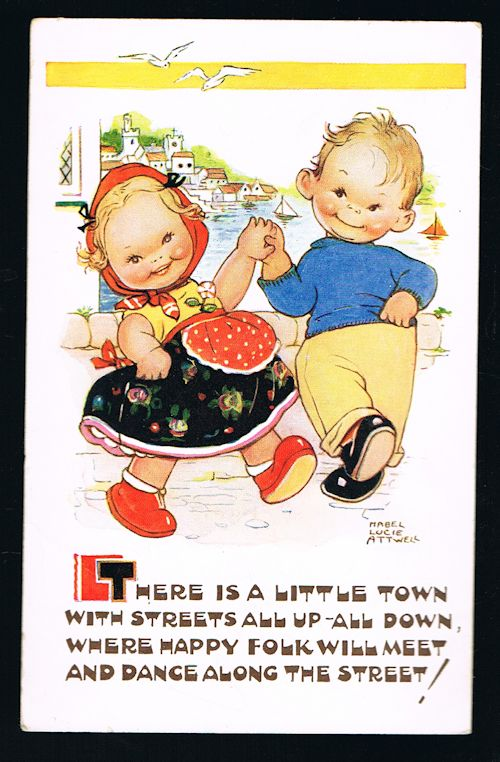 Image for There Is a Little Town Postcard