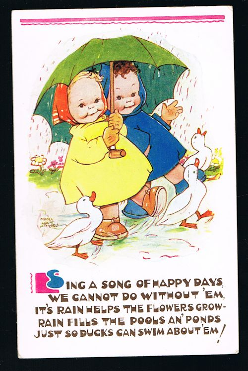 Image for Sing a Song of Happy Days Postcard
