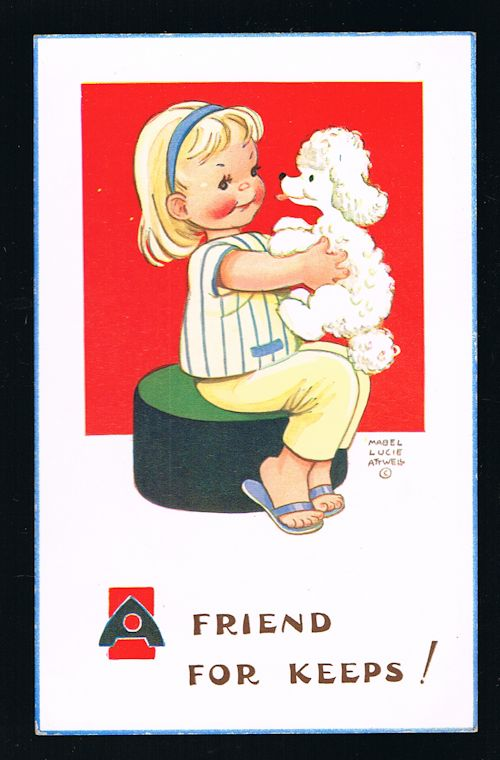 Image for A Friend for Keeps Poodle Postcard