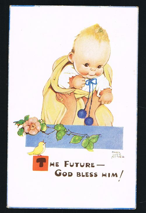 Image for The Future - God Bless Him Baby Postcard