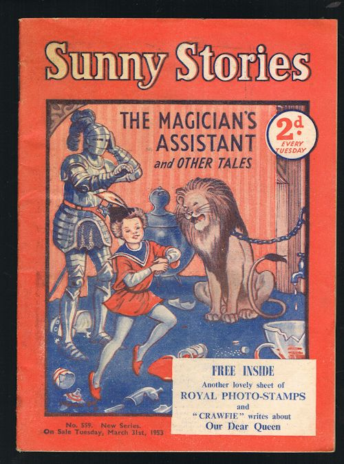 Image for Sunny Stories: The Magician's Assistant & Other Tales (No. 559: New Series: March 31st, 1953)