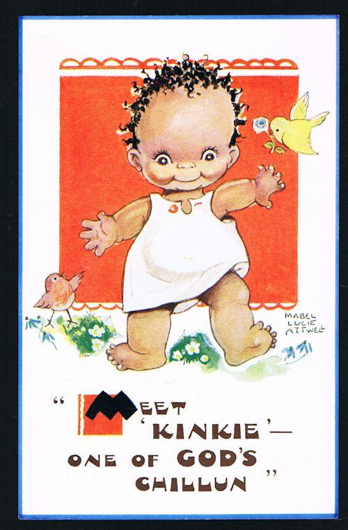 Meet Kinkie - One of God's Chillun Postcard