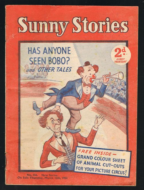 Image for Sunny Stories: Has Anyone Seen Bobo & Other Tales (No. 556: New Series: March 12th, 1953)