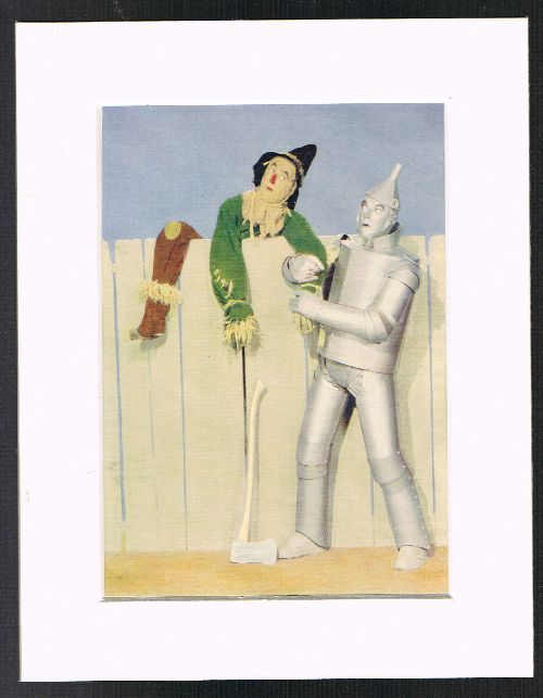 Image for Tin Woodman & Scarecrow (Mounted Plate from 'The Wizard of Oz' By L.Frank Baum]