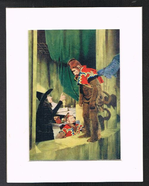 Image for The Wicked Witch & the Flying Monkeys (Mounted Plate from 'The Wizard of Oz' By L.Frank Baum]