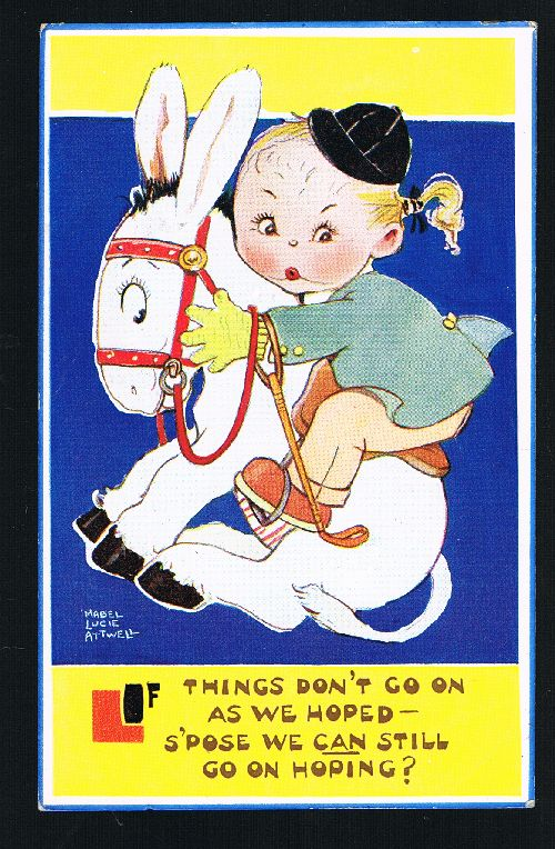 Image for If Things Don't Go as We Hoped Horse & Rider Postcard