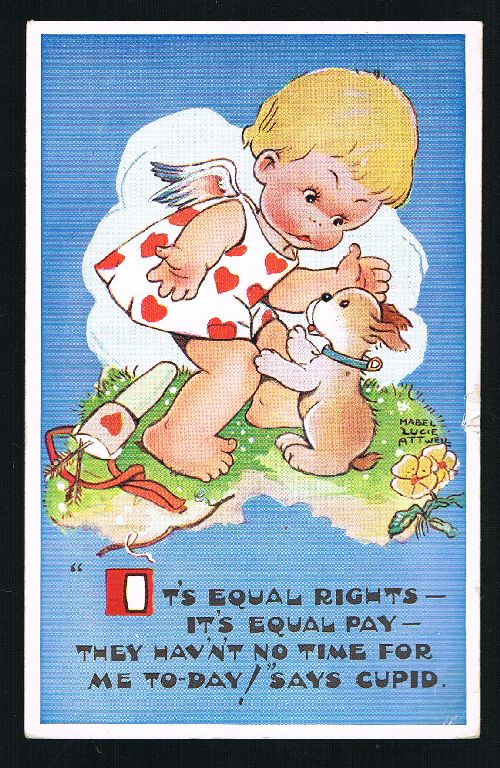 Image for Equal Rights, Equal Pay Cupid Postcard