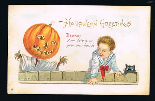 Image for Beware Your Fate Halloween Postcard