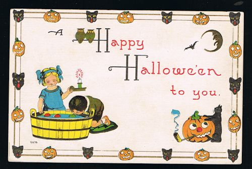 Image for Happy Halloween Vintage Embossed Postcard