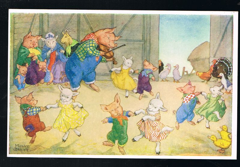 Image for Take Your Partners Farmyard Postcard