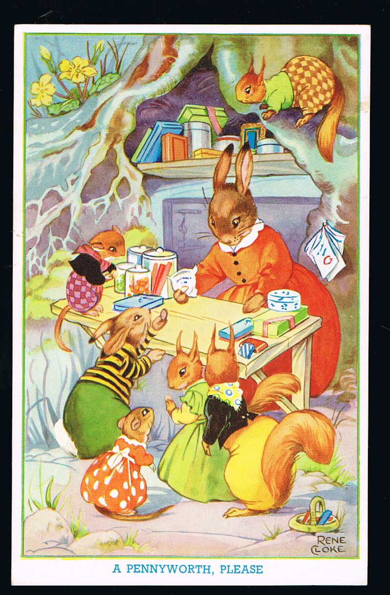 Image for A Pennyworth Please Rabbits & Squirrels Postcard