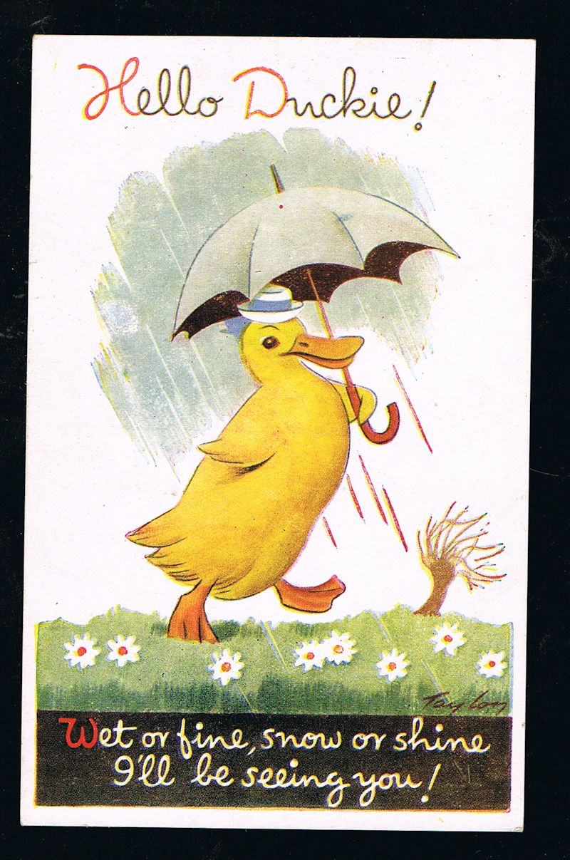 Image for Hello Duckie Postcard