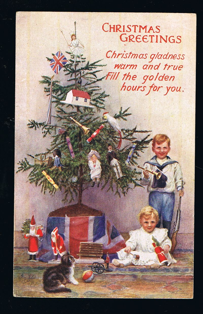 Image for Christmas Tree, Children & Toys Postcard